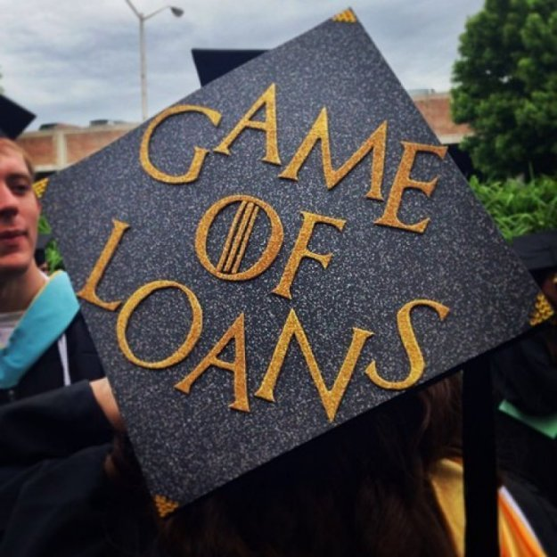 Game of Loans graduation cap