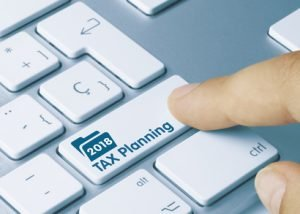 2018 TAX planning Keyboard button