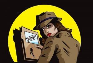 Secret Agent Cartoon Illustration