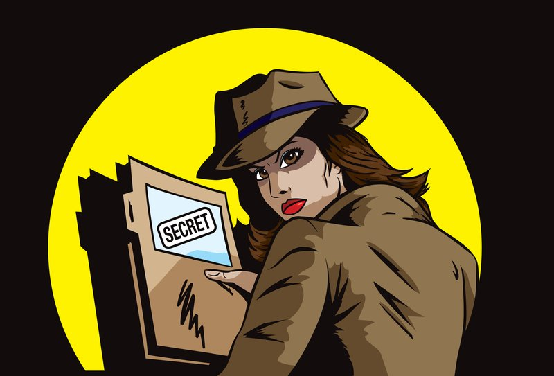 Secret Agent Cartoon Illustration